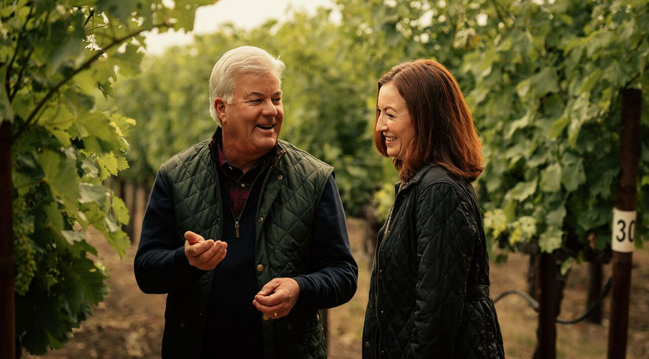 Freemark Abbey winemakers Kristy Melton and Ted Edwards